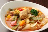 4種類の豆とつくねのトマトスープ