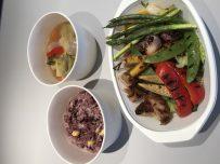 ハーブチキンと焼き野菜スープ付き